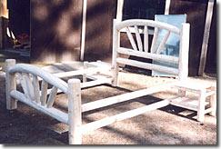 custom shop lodgepole pine bed frame