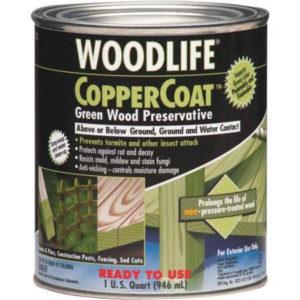 idaho hardware store coppercoat 1 quart green wood preservative