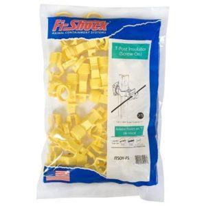 idaho hardware store screw on t post insulators yellow
