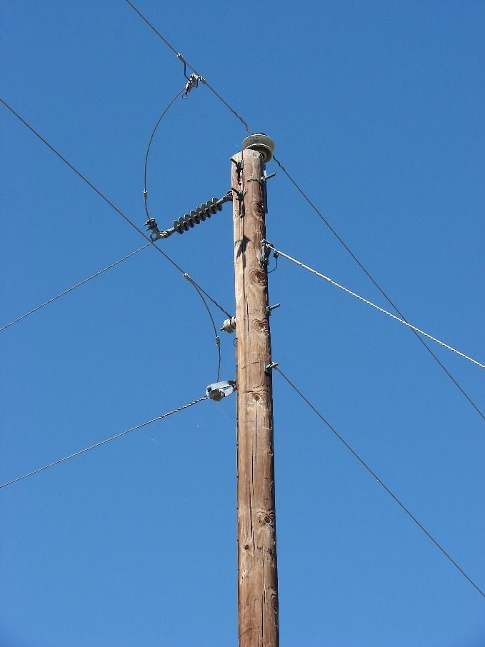 class 5 utility pole for power lines