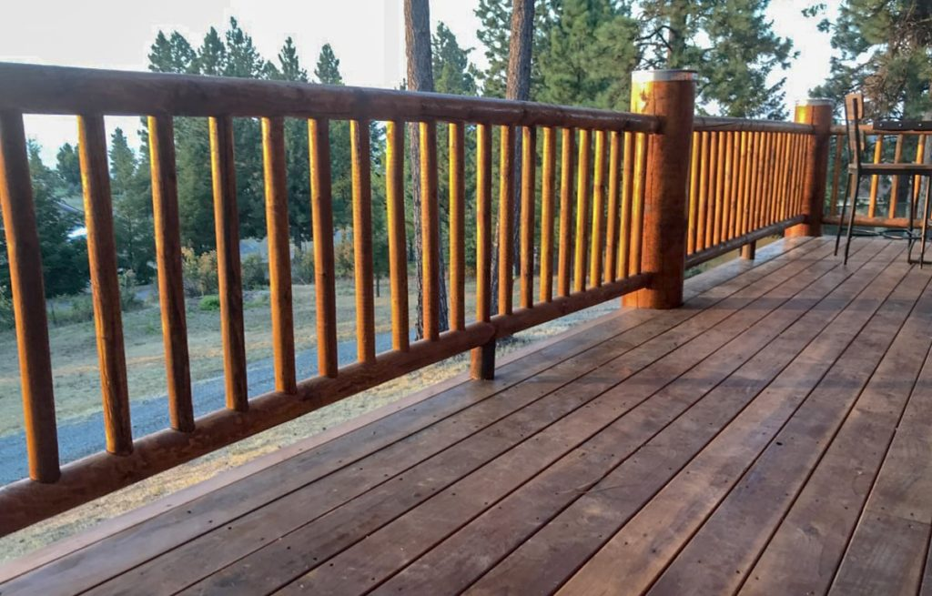 Finished railing