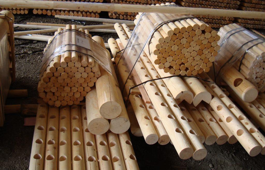 Finished lumber at North Idaho Post & Pole