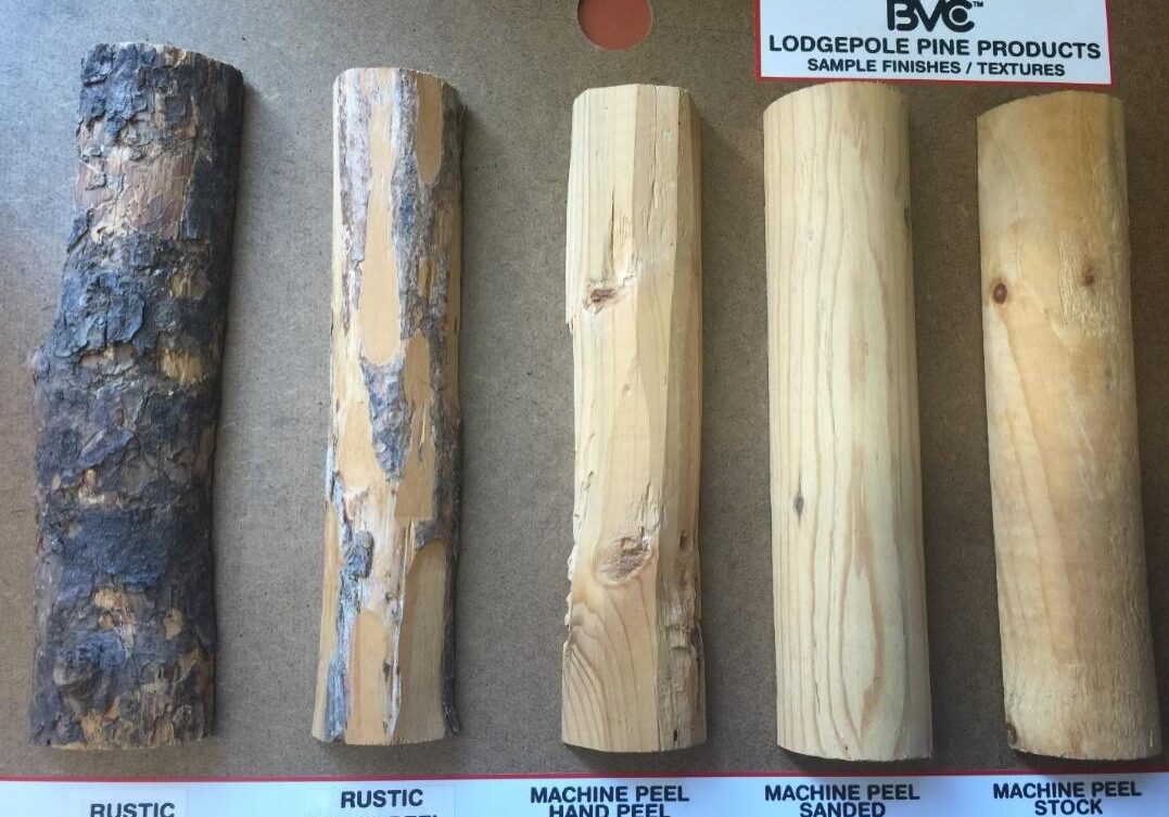 sample board of round stock finishes