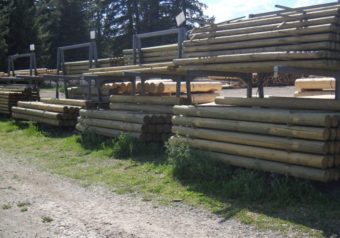 multiple size round stock posts and poles